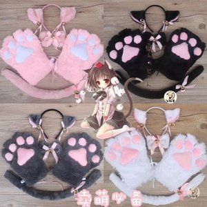 Cute set 5 sets of maid cat claw bow tie accessories gloves