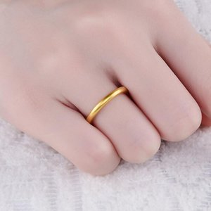 Cluster Rings Selling Gold Silver For Man Women Titanium 2mm Thin Finger Ring Anillo Bague 2021 Unique Wedding Jewelry Accesories