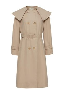 Women's Trench Coats Double Breasted Long Coat With Belt