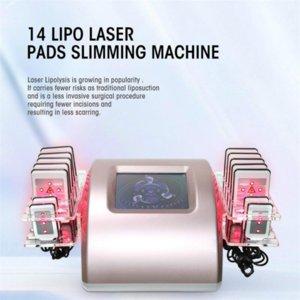 Lipo Lazer Makinesi 14 Pedler Lipolaser Zayıflama Makinesi Yağ Yanan RF Liposuction Selülit Güzellik Salonu Azaltın # 001