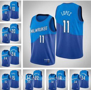 Top Quality 2021 Homens Giannis Antetokounmpo Khris Middleton Jrue Holiday Qualquer jogador Hot Pressing Costume Basketball Jerseys Respirável