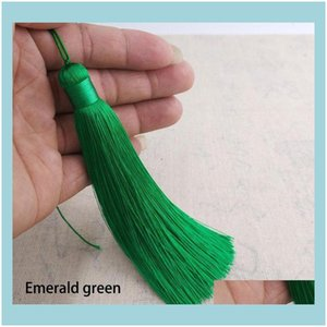 Arts And Arts, Crafts Gifts & Gardencustomizable 12Cm Polyester With Hanging Ring Silk Sewing Bang Tassel Trim Decorative Key Tassels For Pe