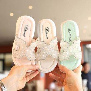 Baby Slipper Kids Shoes Childrens Slippers Girls Footwear Summer Children's Soft Crystal Casual Princess Sandals Beach B6371