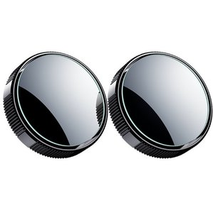 Car rear view reversing small round mirror blind spot 360 degree infinite glass high-definition reflective