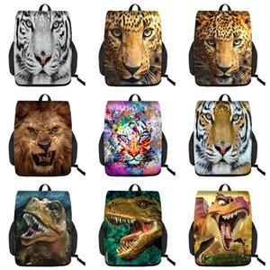 Student Animal Shoulder Backpack Custom 3D Kids Schoolbag Boy Multi-function Big Backpack Kids Creative Dinosaur Patch Drawstring Mochila 06