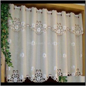 Drapes British Halfcurtain Embroidered Window Valance Customize Light Shading For Kitchen Cabinet Door Curtain Home Decoration Fqjyx Kzesl