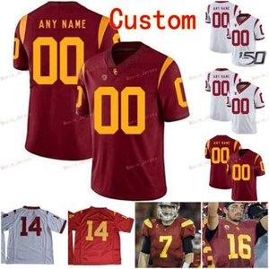 Stitched Custom 47 Clay Matthews 5 Reggie Bush 55 Junior Seau 6 Michael Pittman Jr. USC Trojans College Men Women Youth Jersey