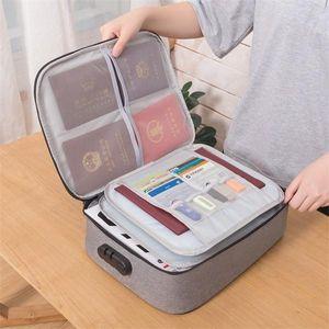 Big Capacity Document Holder Organizer Insert Handbag Travel Bag Pouch ID Credit Card Wallet Cash Case Box Accessories Q1104