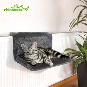 Rhinocats 고양이 해먹 케이지 라디에이터 윈도우 침대 안락의 베어링 쿠션 카카 Gato 애완 동물 고양이를위한 따뜻한 선반 좌석 집 T200101