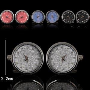 Men's Luxury Pair Watches Cuff Links Cufflinks Classic Functional Quartz Clock Holiday Gifts Vintage Diamond Cufflink for Men Suit Shirt Sleeve