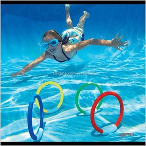 Accessories 4Pcs Dive Ring Set Aid For Children Water Play Sport Diving Beach Summer Fun Toy Kids Swimming Pool Accessory Fio0U Jd9Sw