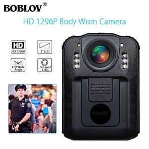 Kameralar Boblov WN9 Giyilebilir Vücut Aşınmış Kamera Novatek 96650 HD 1296P Cam 32 GB 170 Derece 2 inç Ekran Güvenlik