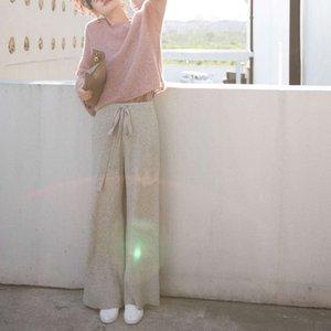 Casual Dresses Südkorea East Gate Herbst Winter Light Wool Temperament Sport Hosen L2506