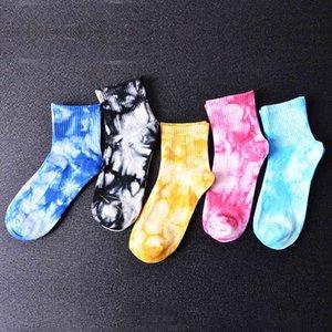 Style Women's Fashion Tie-dye Cotton Tube Socks