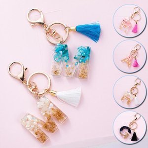 Cute Creative Letters Crystal Keychain Arylic Keyring For Women Car Bag Tassels Pendent Key Accessories Charm Couple Family Gift Keychains