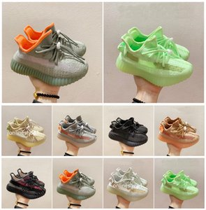 Boys Girls Kids Running Shoes Designer Infant Kanye Trainers Fashion Black Green Pink Athletic Shoe sneakers For Children