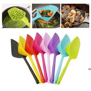 Cooking Shovels Vegetable Strainer Scoop PP plastic Spoon Large Colander Soup Filter Pasta Heat Resistant Strainer Kitchen Tools HWA8434