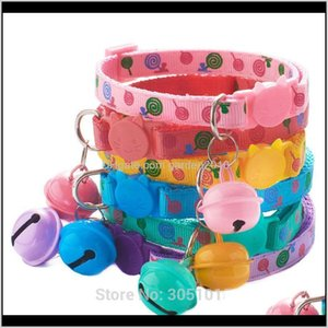 Collars Leashes 100Pcs Adjustable Large Bell Aron Color For Cat Decor Lovely Dog Point Collar Leash Durable Pet Accessories 201030 Cvr Y4I0R