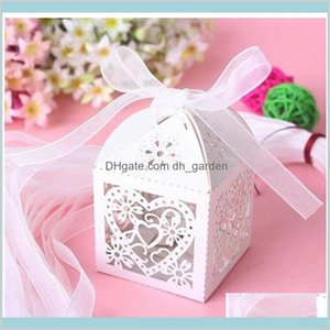 Wrap Event Festive Supplies Home Garden Pearl Paper Party Wedding Favor Ribbon Candy Boxes Gift Box White 7 Color 091 Drop Delivery 20