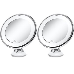 10X Magnifying Makeup Vanity Lights Mirror With Lightss Portable Dimmable LED Lighted Lighting 360°Rotation Home Tabletop Bathroom Shower