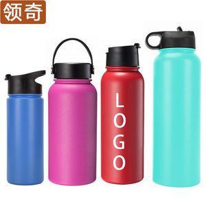 American Vacuum sports bottle portable bottle creative plastic sprayed stainless steel outdoor kettle