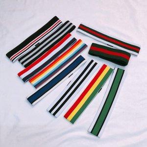 Wholesale lotes estilo rojo raya verde impresión diadema elástica para niños moda bandas de pelo niños y chicas retro turbante deporte headwraps