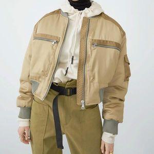 Otoño béisbol corto ropa acolchada cremallera cremallera empalme casual suelto chaqueta básica bombardero abrigo mujer Outwear Tops Down Parkas