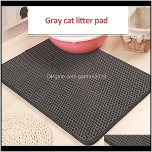Beds Furniture Supplies Home & Garden Drop Delivery 2021 Waterproof Pads Double-Layer Honeycomb Cat Litter Mat Pet Non-Slip For Cats House Be
