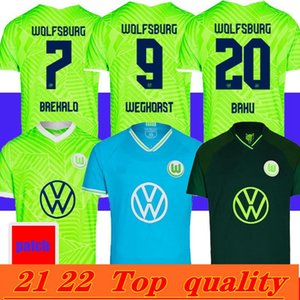 21 22 Vfl Wolfsburg كرة القدم جيرسي الجينز شيوت ستيفن قمصان كرة القدم الرجال أطقم MBABU بروكس أرنولد Whagorst موحدة التايلاندية