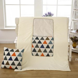 39 Colors Linen printed pillow quilt dual-purpose foldable cushion car office folding multi-function blanket air conditioning quilt HWE9853