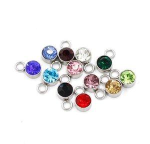 240pcs / lot coloré 10 * 7mm de naissance cristal de naissance de pierre de naissance charmes de charmes flottants pour bijoux à la main Bijoux bricolage bricolage et 126 W2