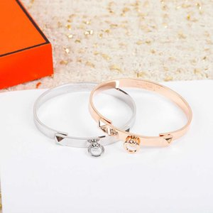 2021 Top quality charm punk bracelet in silver and rose gold plated for women wedding jewelry gifthave stamp box PS3377