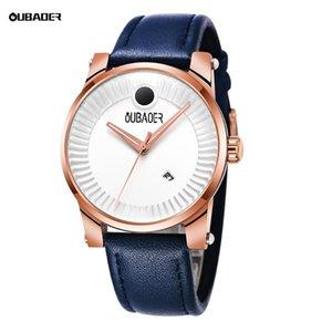 Wristwatches 2021 OUBAOER Mens Watches Quartz Movement Waterproof Male Watch Date Analog Business Casual Fashion For Men