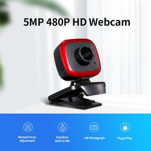 Webcams HD Webcam 5MP PC 30fps Web USB Camera High-Definition Cam Video Call With Microphone Plug & Play For Laptop Desktop Computer