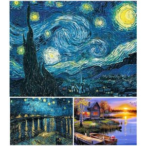 DIY 5D Diamond Painting Van Gogh Starry Night Cross Stitch kit Diamond Embroidery Abstract Mosaic Art Picture Craft Home Decor