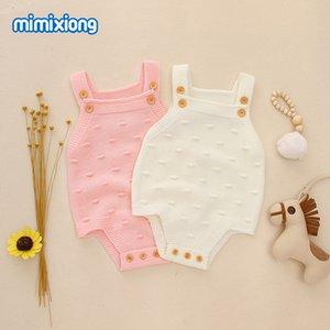 Baby Bodysuits Sleeveless Newborn Bebes Girl Onesie Tops Fashion Solid Color Toddler Kids Boys Knit Jumpsuit 0-18M Children Wear 892 X2