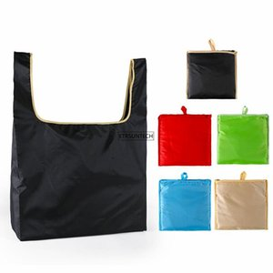 Storage Bags 50pcs Eco-Friendly Grocery Foldable Shopping Waterproof Reusable Handbags Convenient Large-capacity Bag