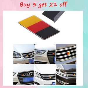 Banner Flags German Flag Grille Emblem Badge For Volkswagen Scirocco GOLF 7 Golfs 6 Polo GTI VW Tiguan fors Audi A4 A6 Car Accessories 1pc