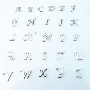 floating charms 130pcs lot Wholesale mix crystal letter charms diy A-Z alphabet floating locket charms for living glass locket 22 J2