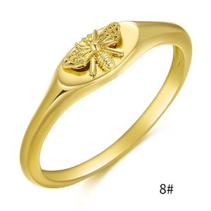 New bee brass plated with genuine gold, ect ring, exquisite and fashionable feminine headwear
