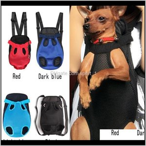 Carrier Home Garden Drop Delivery 2021 3 Size And 5 Colors Dog Carriers Backpacks Cat Puppy Front Shoulder Carry Sling Bag Pet Supplies 45Mcj