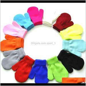 Favor Event Festive Party Supplies Home Garden Drop Delivery 2021 Children Winter Gloves Solid Candy Color Boy Girl Acrylic Kid Warm Knitted