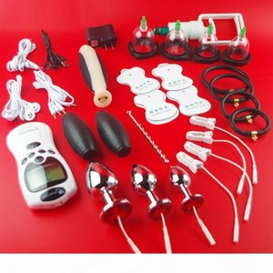 2019 Electro Penis Stimulator Cock Ring & Anal Plug Sex Toys For Men Electric Shock Medical Themed Cock Ring Toys Accessories