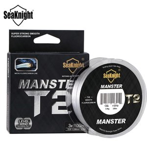 SeaKnight MANSTER T2 100% Double Fluorocarbon Fishing Line 100M Sinking for Carp 210609
