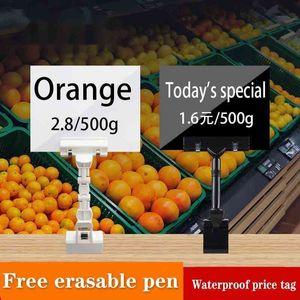 5 Pcs Fruit Price Display Stand Supermarket Waterproof Erasable Chalk Board Label Vegetable Fresh Aquatic Product Promotional Signboard