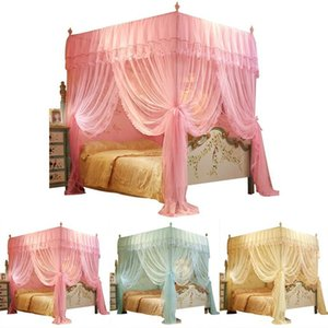 Mosquito Net 150*200 Mm 4 Posters Corners Bed Canopy Princess Queen Bedding Tent Floor-Length Curtain