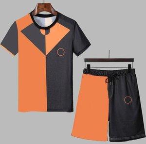 Designer degli uomini Sportsuits con lettere Moda Geometrica Geometrica Tute per uomo Summer Streetwear Jogger Suits Sportswear M-3XL Opzionale