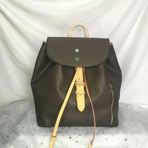 N41578 سبيروني حقيبة الظهر أعلى جودة سيدة الظهر مصممين مشبك التعادل حبل الكلاسيكية الجلود في الهواء الطلق حقيبة السفر أزياء المرأة أكتاف حزم