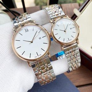 Luxo Casal Relógios Top Marca Mens Relógios Designer Relógio Para Mulheres Totalmente Automático Movimento Mecânico Couro ou Aço Inoxidável U908O