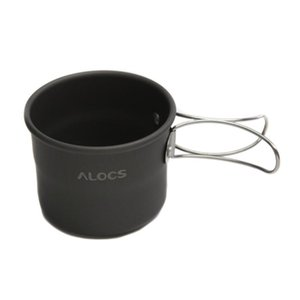 Water Bottles ALOCS TW-402 Portable Aluminum Oxide Outdoor Camping Cup Foldable Handles 150ml